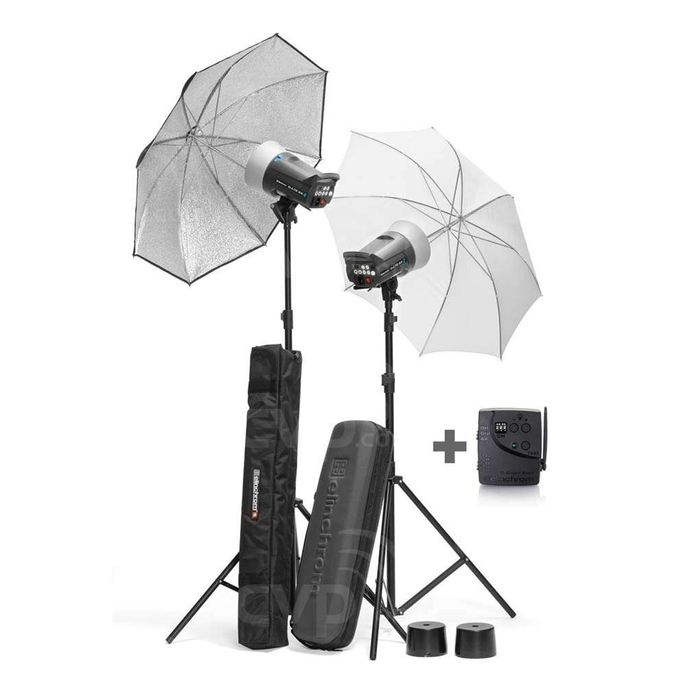 Elinchrom Frx 400 Studio Lighting Kit: Elinchrom 20840 200/400 D-Lite RX 2/4 Umbrella Set (EL20840