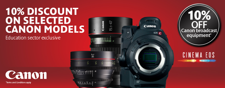 Canon 10% Discount on selected Canon Models