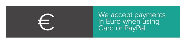 We accept EUR