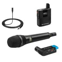 Sennheiser AVX-COMBO SET-3-UK (AVXCOMBOSET3UK) Includes Digital Wireless Microphone, Plug on Receiver, Bodypack Transmitter with Lavalier Microphone