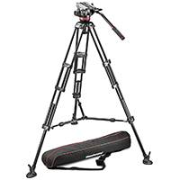 Manfrotto MVH502A,546BK-1 (MVH502A546BK1) Tripod Head Kit - includes MVH502A Head with 546B tripod (mid-level spreader) and bag