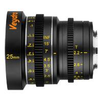 Veydra Mini Prime 25mm T2.2 Lens  - Micro 4/3 Mount (Available in Metric and Imperial Scale)