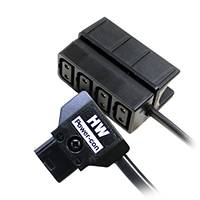 Hawk-Woods GC-4A (GC4A) Power-Con Clip-on 4-way Adapter with 30cm Cord