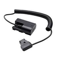 Zacuto PT-ZAC-E6 (PTZACE6) LP-E6 to D-Tap Power Cable for powering a Canon LP-E6 battery with an external power source