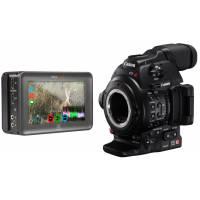 Canon EOS C100 Mark II Super 35mm Digital Cinematography Camcorder with EF Lens mount and Atomos Ninja Blade Bundle