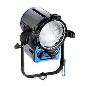 Arri L3.41250.B (L341250B) TRUE BLUE T2 2000W Location Fresnel Lamphead, Manual Blue/Silver - Bare Ends