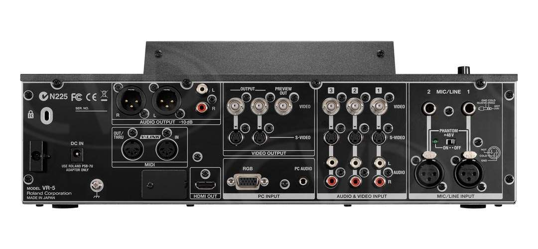 Roland VR-5 (VR5) AV Mixer and Recorder - Rear View