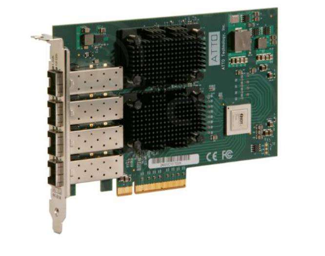 Atto Dual Channel 25GbE SFP28 Optical Interface