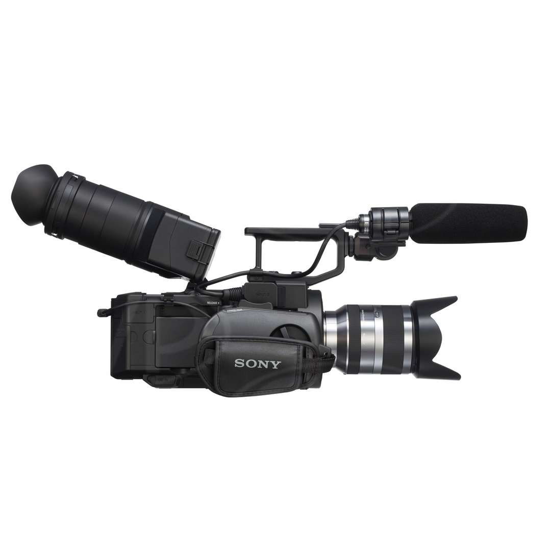 Sony NEX-FS700EK (NEXFS700EK) 4K Ready Super 35mm Camcorder with Lens - Side View