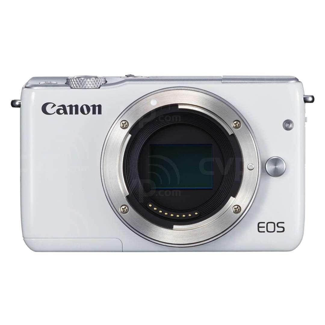 Buy Canon Eos M10 Ef M 185 Megapixel Digital Camera Body Only Kit 15 45 22mm White P N 0922c041aa