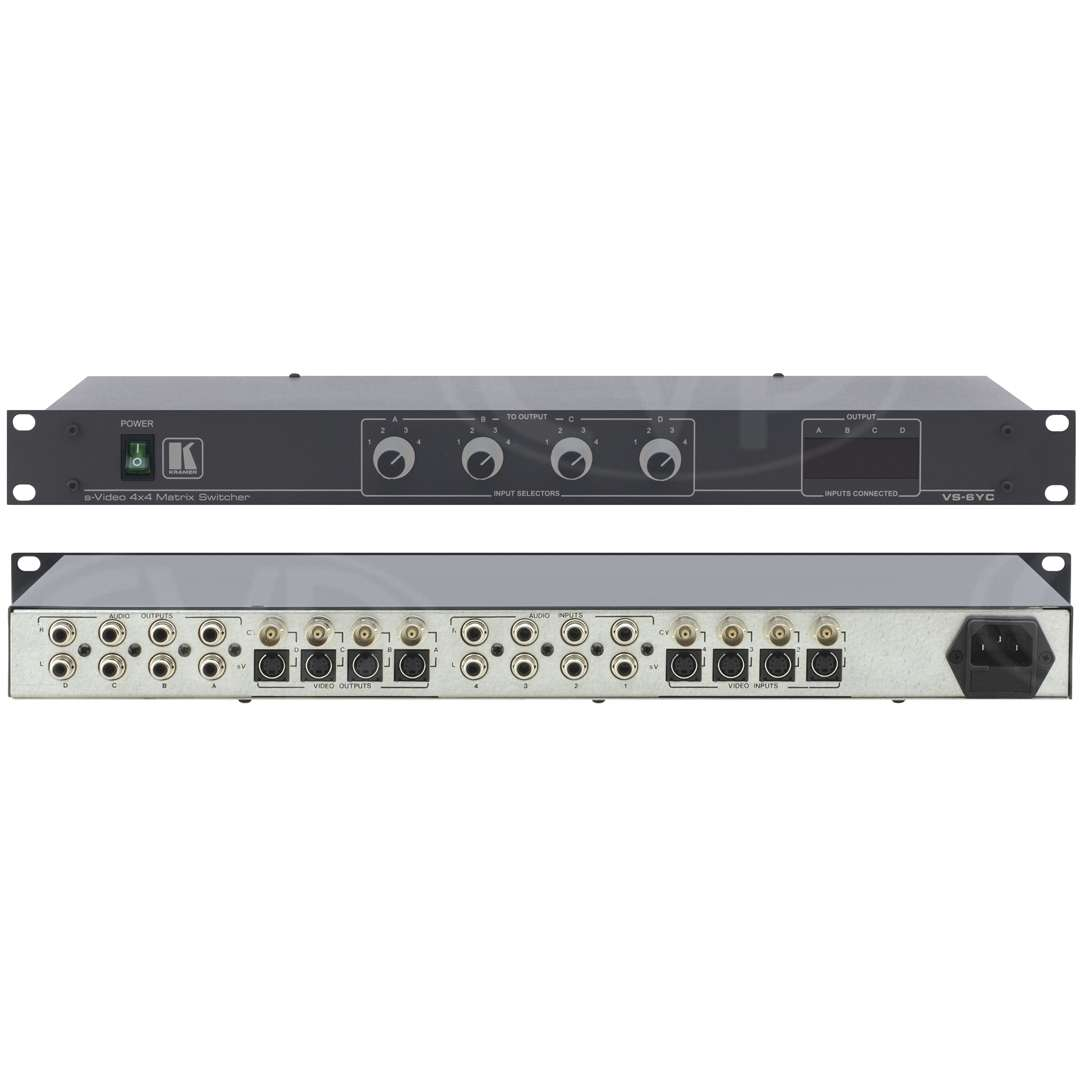 Buy Kramer Electronics Vs 6yc Vs6yc 4x4 Composite Y C Video Switch 4 Inputs Bnc Connections 4x1 Stereo Audio Rca Firewire Matrix Switcher