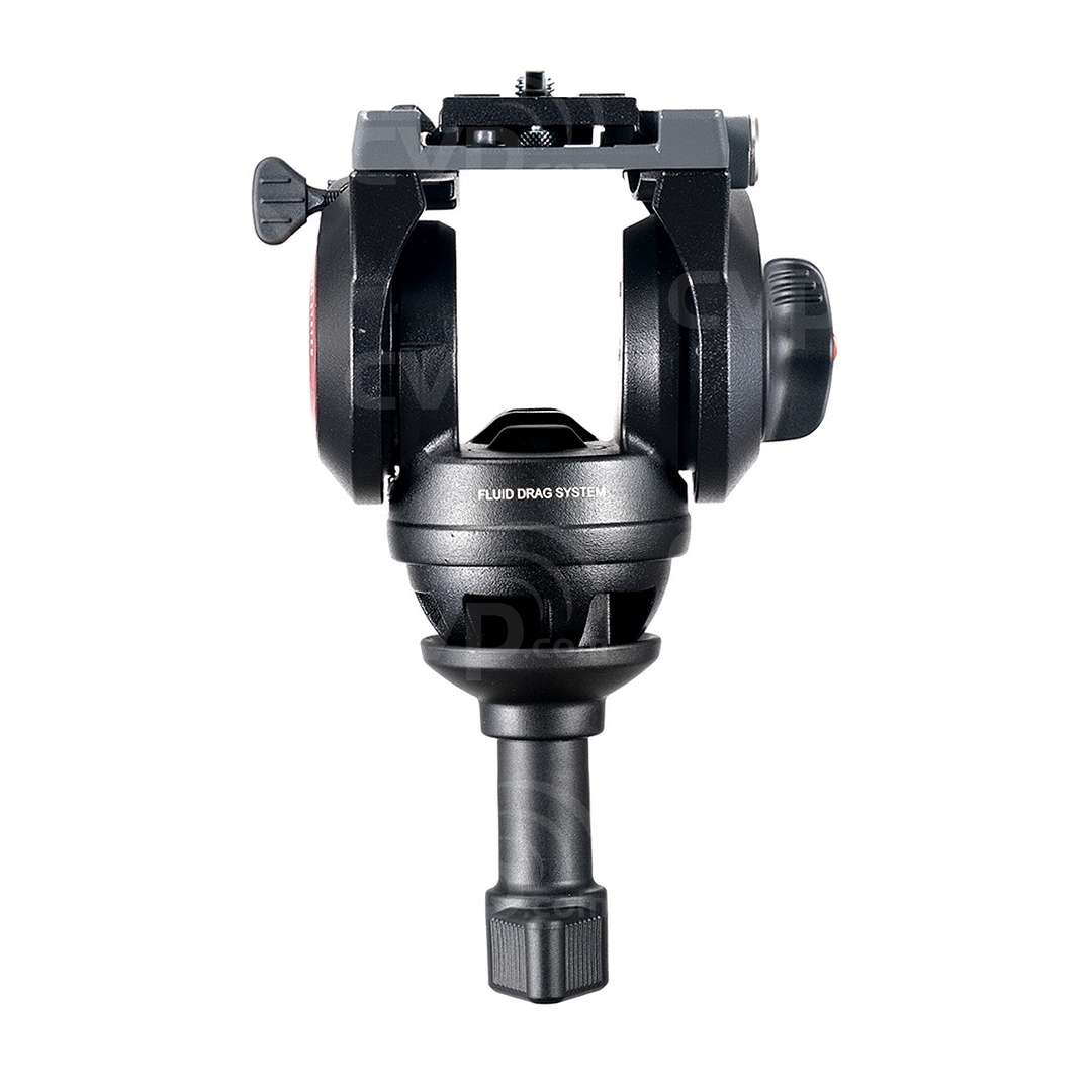 Manfrotto MVH500A (MVH500A) Lightweight Fluid Video Head - 60mm Half Ball (5KG Payload) - Front