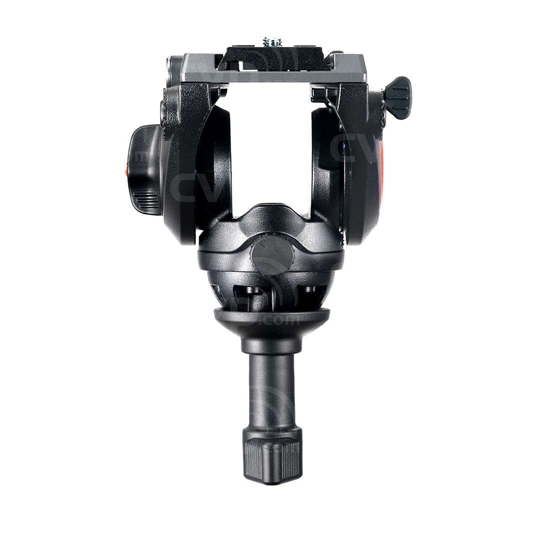 Manfrotto MVH500A (MVH500A) Lightweight Fluid Video Head - 60mm Half Ball (5KG Payload) - Rear