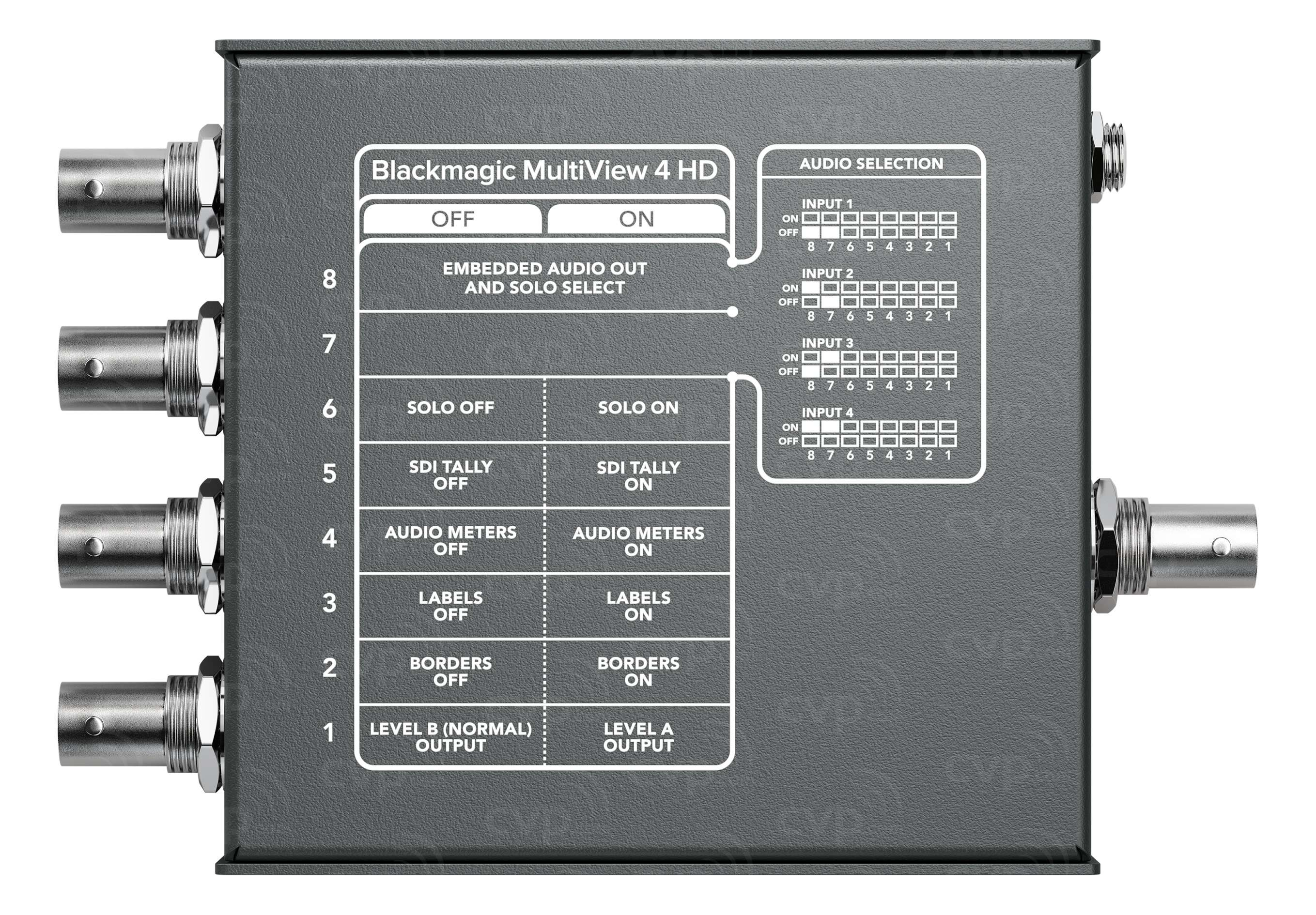 Buy Blackmagic Design Multiview 4 Hd Multi Source With 4 Independent 10 Bit Sd Sdi And Hd Sdi Inputs Bmd Hdl Multip3g 04hd
