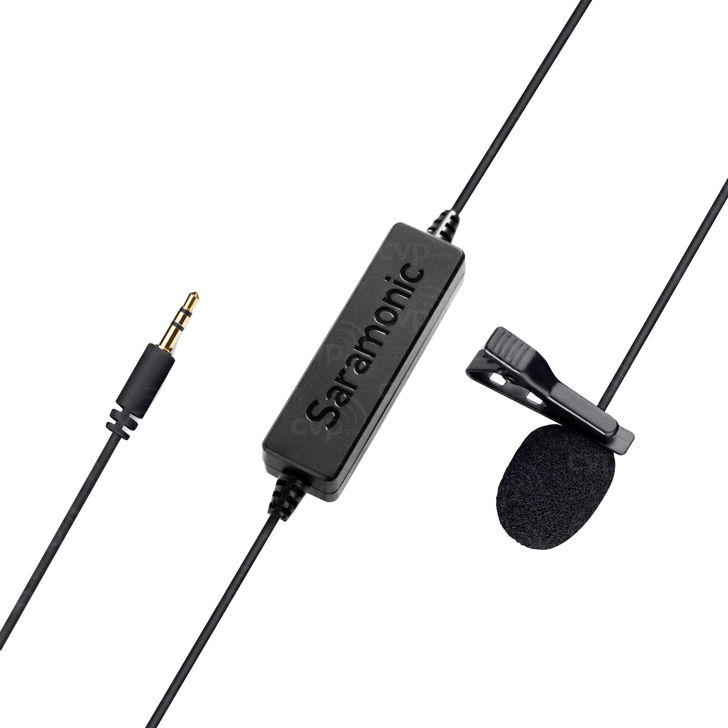 Broadcast Quality Lavalier Clip-on Microphone New Video Production & Editing Brand New Saramonic Sr-lmx1 Cameras & Photo