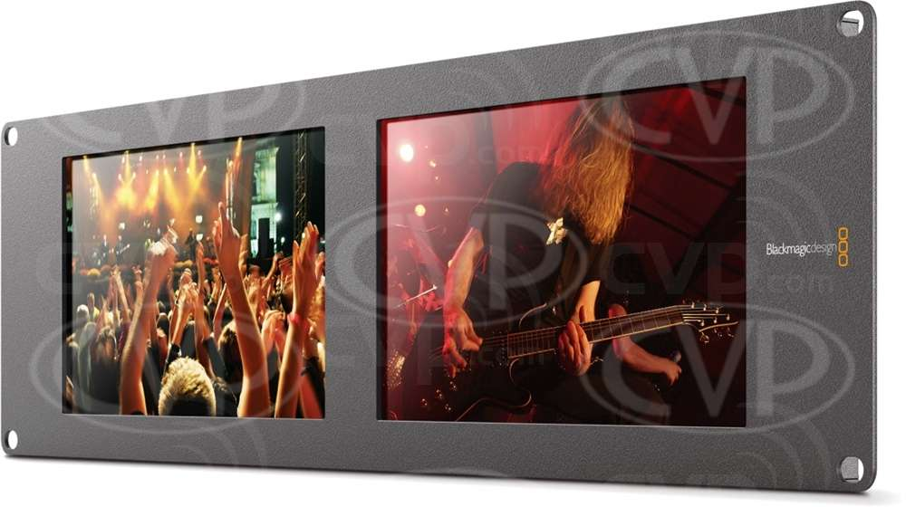 Buy Blackmagic Design Smartview Duo Low Cost Sd Hd Sdi Rack Monitoring For Live Production Bmd Hdlsmtvduo2