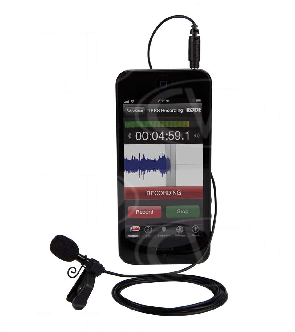 Rode SMARTLAV (SMART-LAV) Omni-directional Lavalier Microphone for iPhone / iPad / iPod Touch