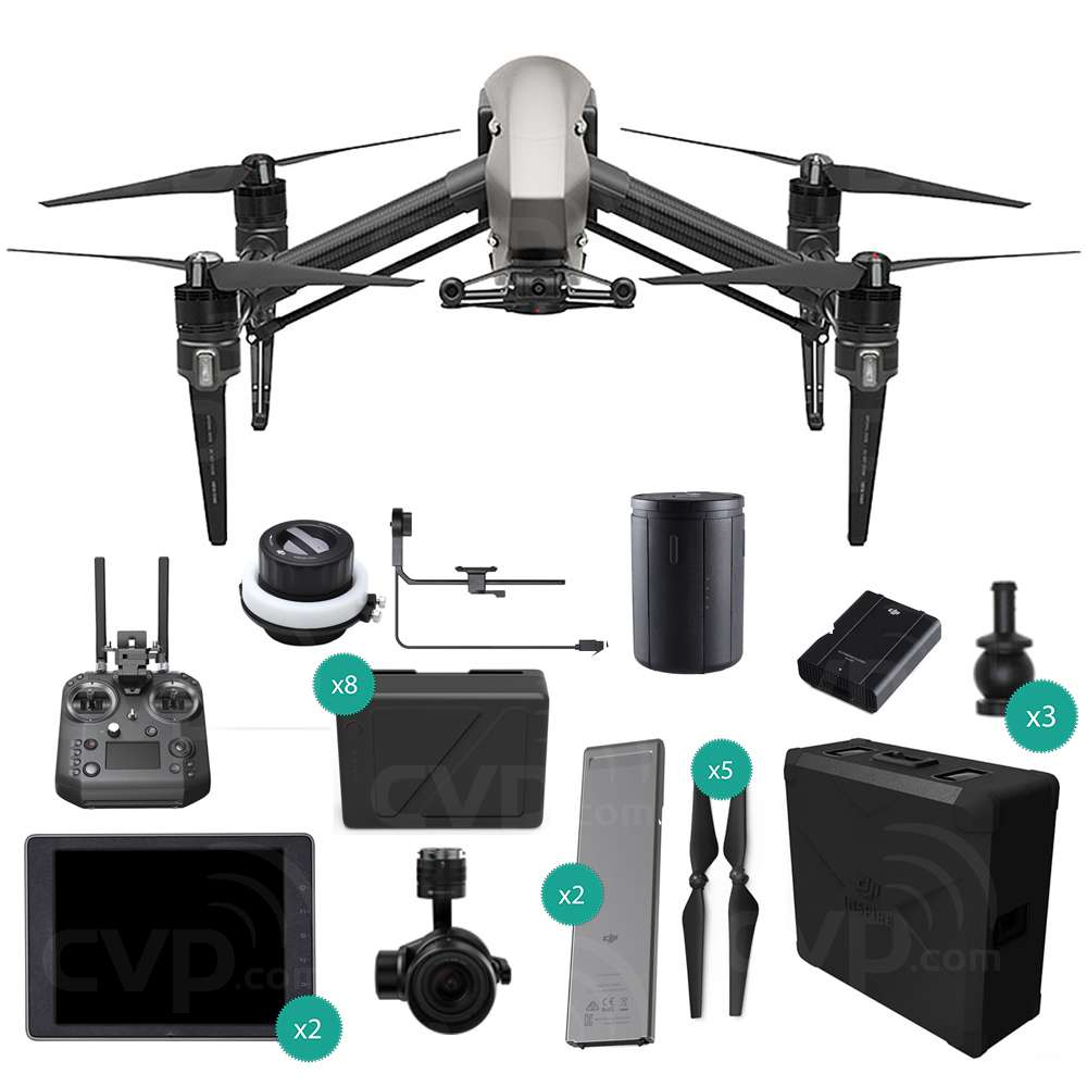 Buy Dji Inspire 2 Prores Quadcopter Professional Combo With Zenmuse X5s Crystalsky Monitor Cendence Remote Controller And Tb50 Battery