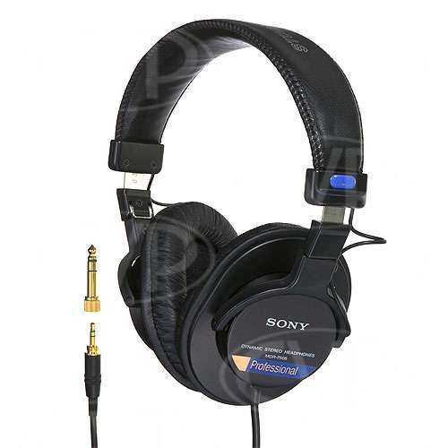 buy sony mdr 7506 1 mdr7506 1 professional headphone closed back 40mm diaphragm 106db. Black Bedroom Furniture Sets. Home Design Ideas