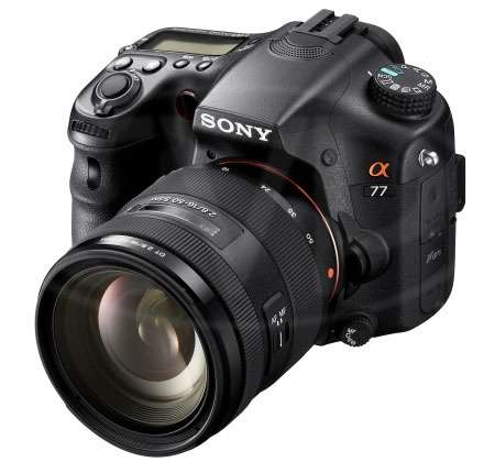 Sony SLT-A77VQ (SLTA77VQ ) Alpha 24.3 megapixel DSLR Camera with 16-50mm lens