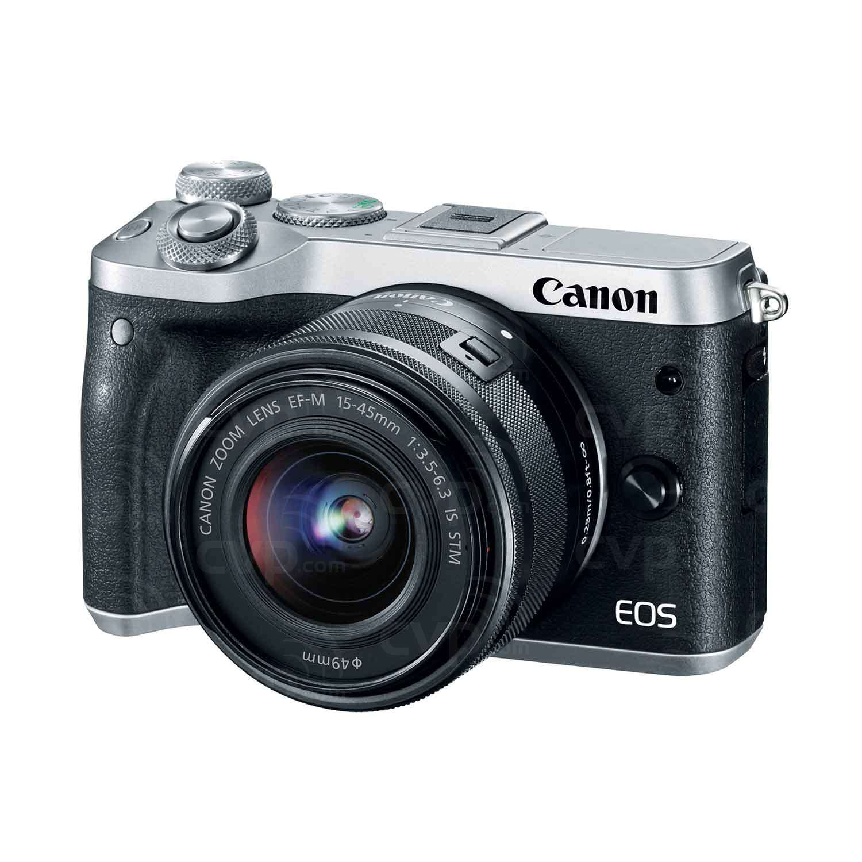 Buy Canon Eos M6 242 Megapixel Ef M Mount Digital Camera With 22mm F 20 Stm 15 45mm F35 63 Is Lens Silver P N 1725c042aa