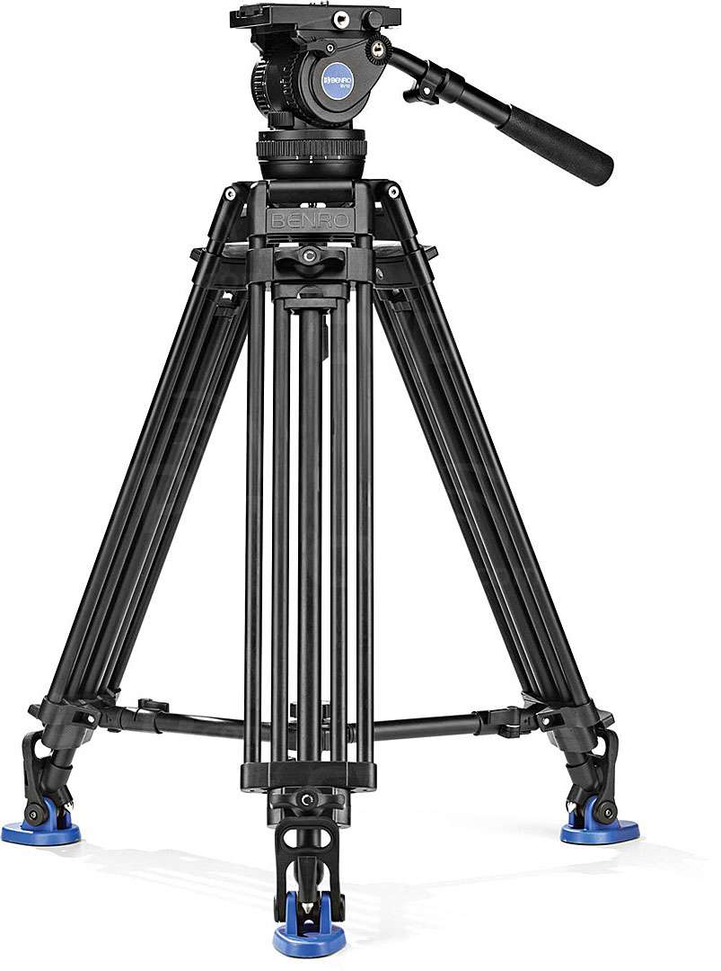 KENVH01F Kenro VH01F Video Tripod Head with Quick Release Plate and Pan Handle