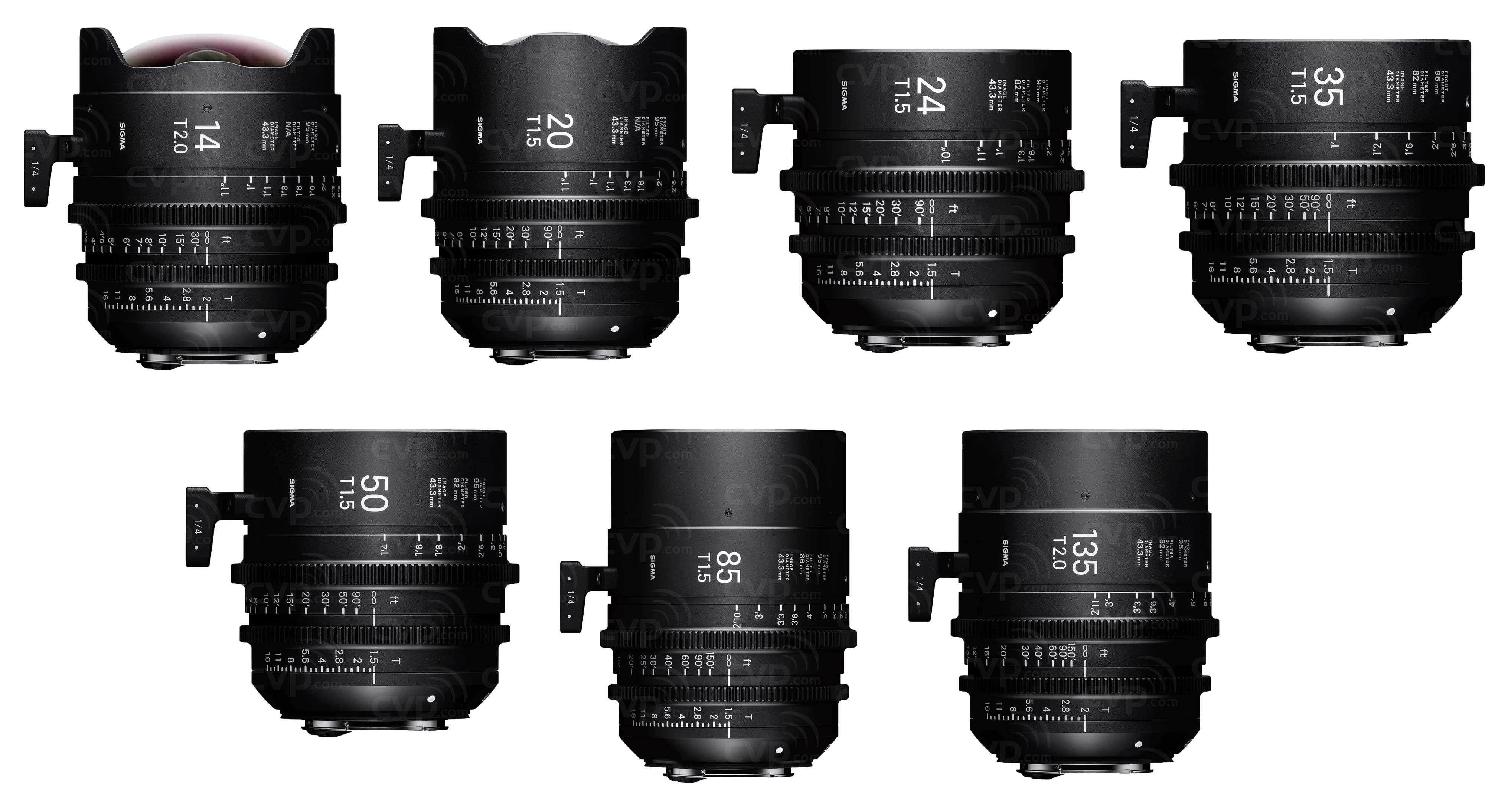 Buy - Sigma PL Mount FF High Speed Prime Cine 7 Lens Kit (Includes ...