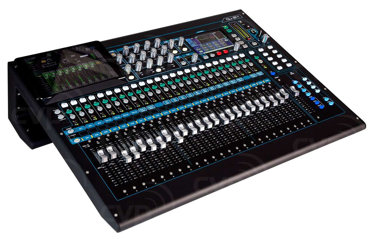 Buy Allen Heath Qu 24 Qu24c Digital Mixer With Mic Line 3 Low Cost Stereo 4fx 20 Mix And Touchscreen
