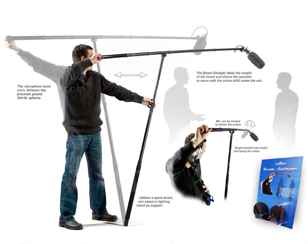 Buy - Boom Swinger - takes the weight of the mic boom whilst still allowing  the operator to move in and out of the action and rotate the mic even  whilst ...