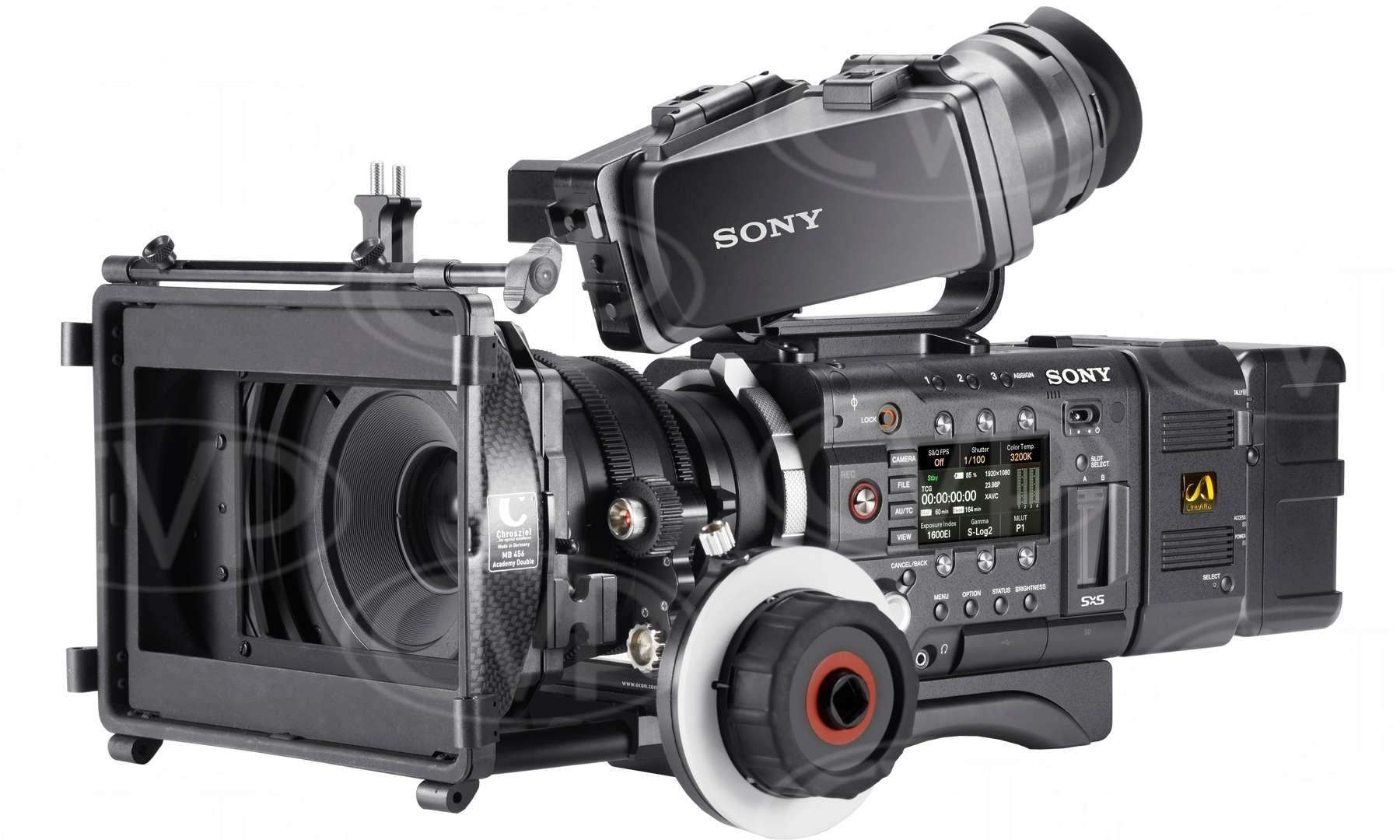 Sony PMW-F55 (PMWF55) Super 35mm Full HD 4K CMOS Sensor Compact CineAlta Camcorder - Records HD/2K/4K on SxS memory plus 16-bit RAW 2K/4K output