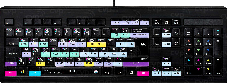bc95cf45d5a Buy - Logic Keyboard Blackmagic Design DaVinci Resolve 14 PC Backlit Astra  Keyboard (p/n LKB-RES14-APBH-UK)