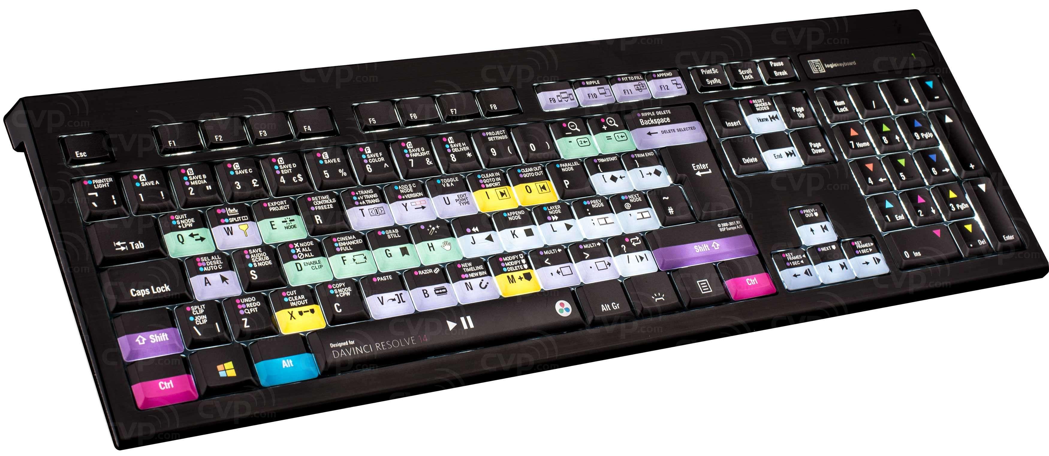 efcbe699532 Buy - Logic Keyboard Blackmagic Design DaVinci Resolve 14 PC Backlit ...