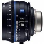 Zeiss CP.3 18mm T/2.9 Compact Prime Cine Lens - EF Mount (Feet Scale) (2186-840)