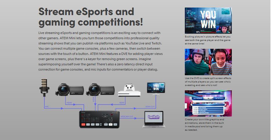 Buy Blackmagic Atem Mini Pro Camera Switcher P N Bmd Swatemminibpr