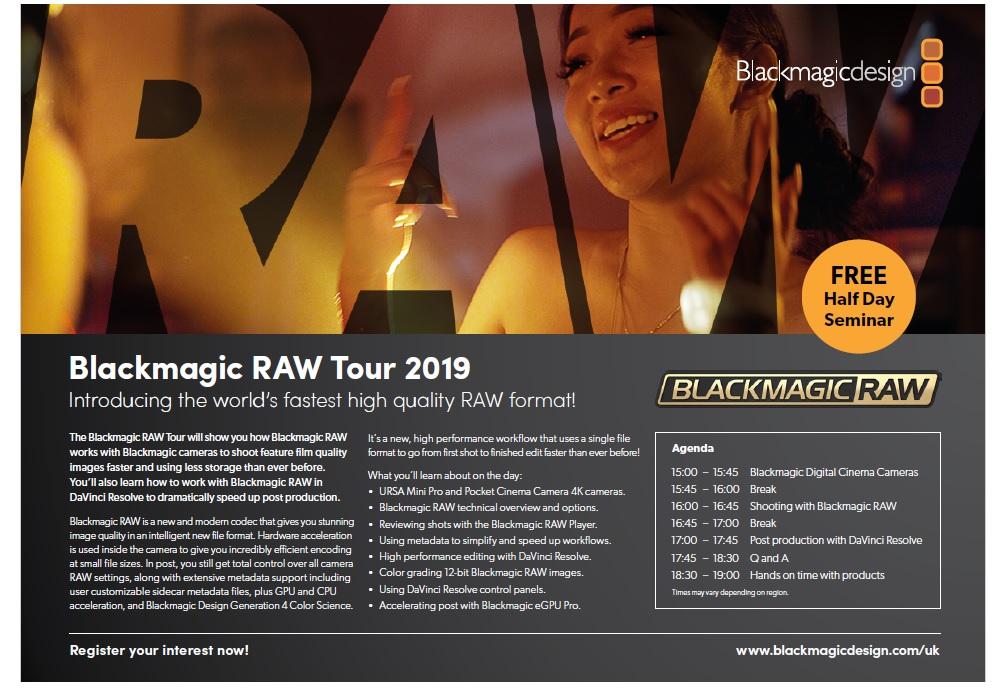 CVP com - Blackmagic RAW Tour 2019 3pm - 7pm - Blackmagic RAW Tour